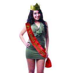 """Faixa """"A Rainha das Noivas"""" com Coroa"""
