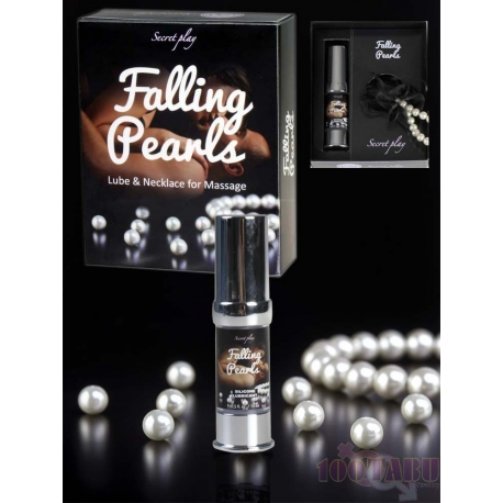 Falling Pearls - Conjunto Lubrificante Silicone e Colar de Pérolas