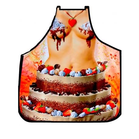 Avental Bolo de Aniversário de Mulher