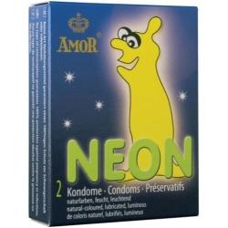 Preservativos Fluorescentes Neon Cx 2uni