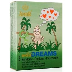 Preservativos Wild Dreams Estriados Cx 3uni