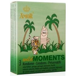 Preservativos Wild Moments Ponteados e Estriados Cx 3uni