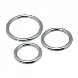 Conjunto 3 Anéis Penianos Metal Timeless