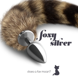 Plug Anal Silver Metal Cauda Foxy